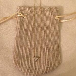 Jewelry - Triangle CZ Pendant Necklace